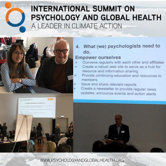 International Summit on Psychology and Global Health: A Leader in Climate Action