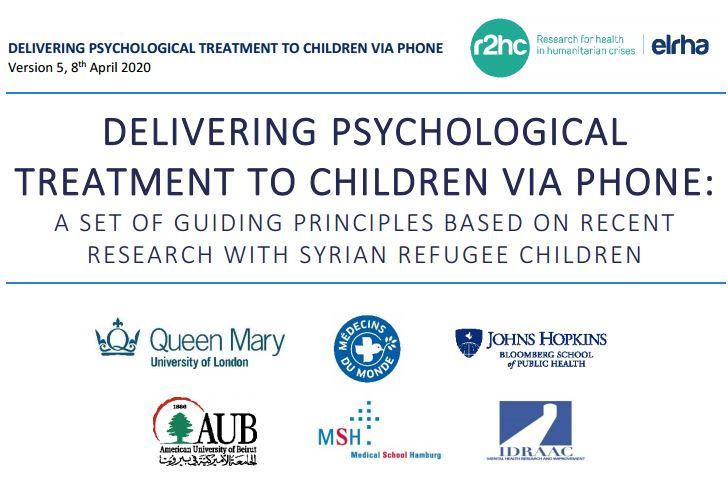 Guidance on Delivering Psychological Treatment to Children via Phone