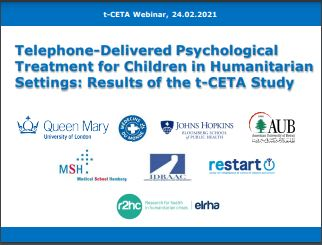 Telephone-Delivered Psychological Treatment for Children in Humanitarian Settings: Results of the t-CETA Study